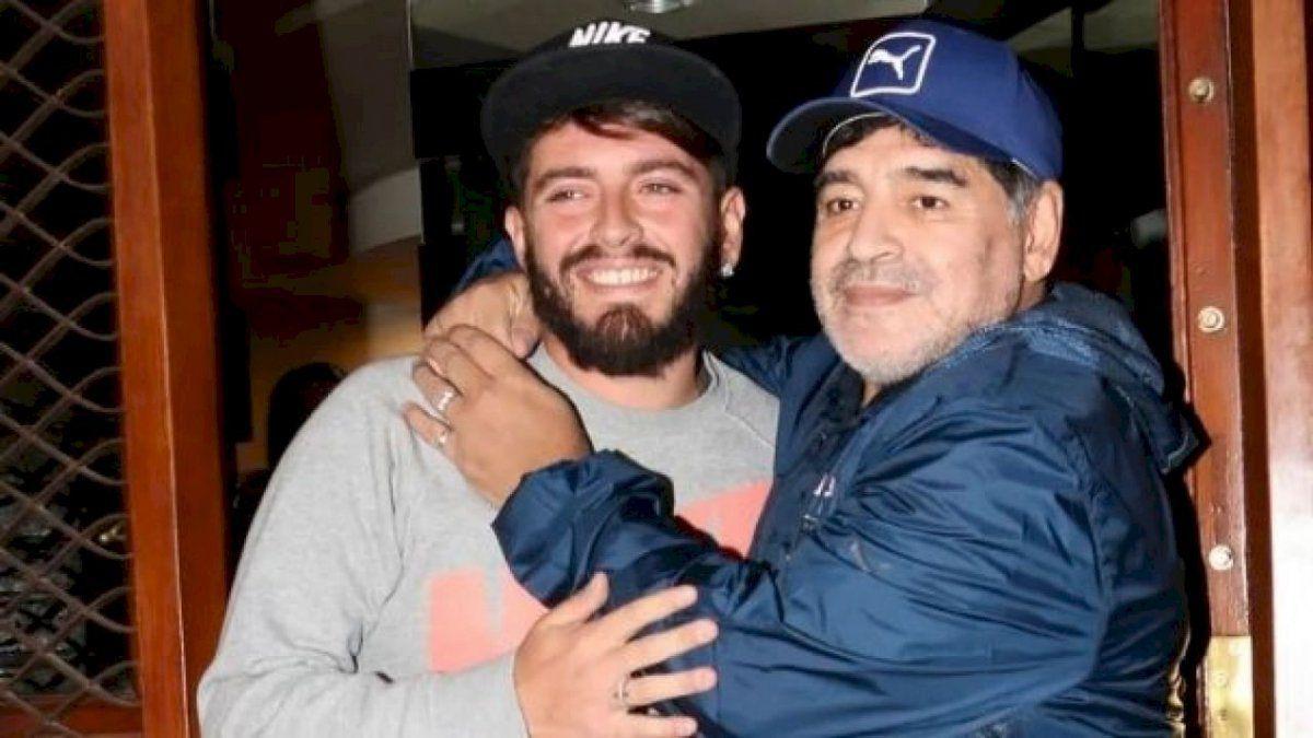La emotiva foto que compartió Diego Maradona Junior