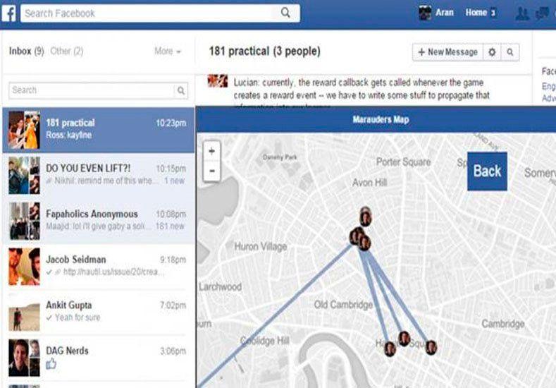 """Ubicá a los contactos de Facebook en un mapa con el """"Mapa del Merodeador"""""""