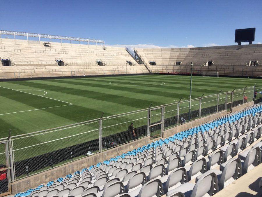 El Estadio San Juan del Bicentenario se prepara para recibir las semifinales de la Copa de la Liga.