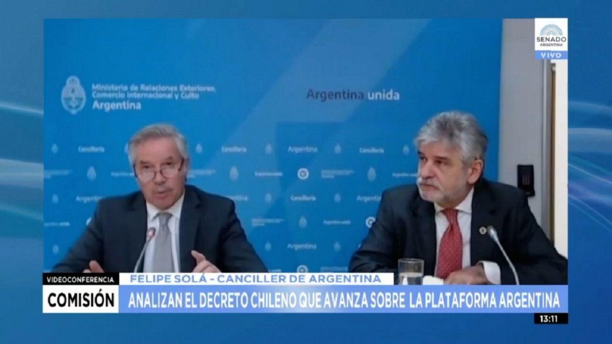 El Senado acordó rechazar el avance de Chile sobre la plataforma marítima.