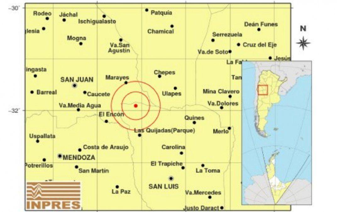 Un intenso sismo en San Juan sacudió la noche del miércoles