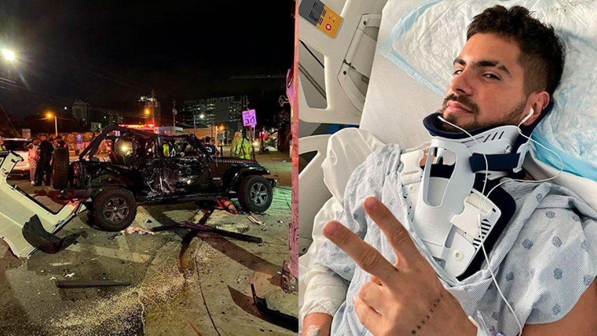 Fer Vázquez sufrió un fuerte accidente en Miami.