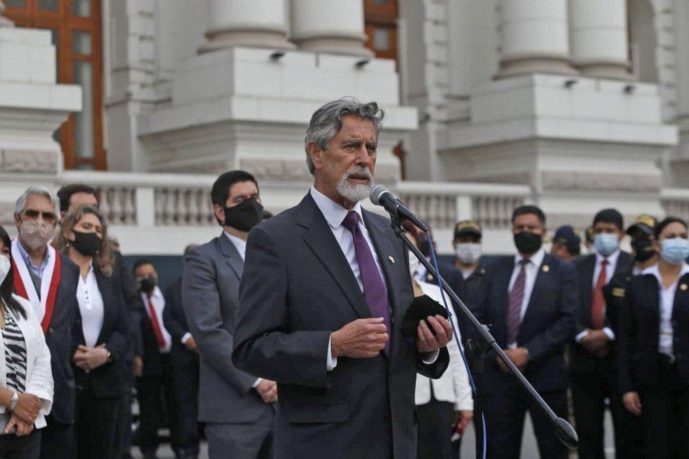 Sagasti será el cuarto presidente de Perú en menos de tres años