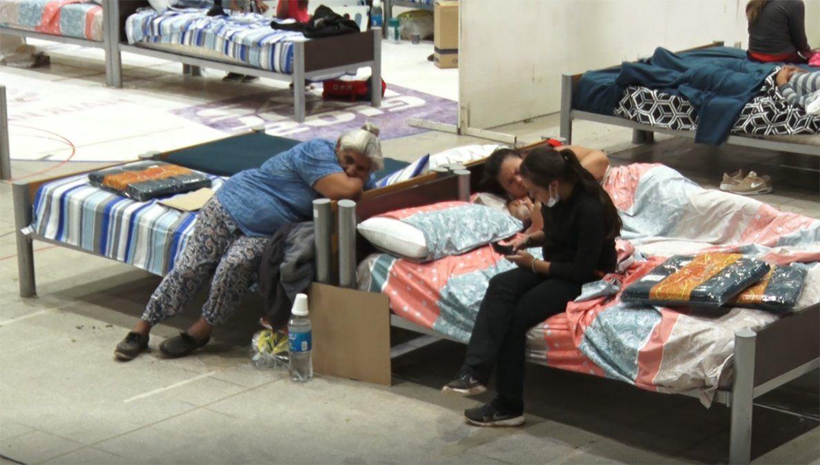 En Pocito, 50 familias permanecen evacuadas y se suman 5 en Sarmiento