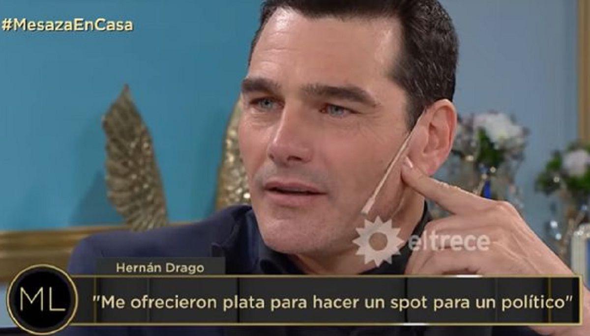 Qué respondió Hernán Drago a una millonaria oferta por un spot político