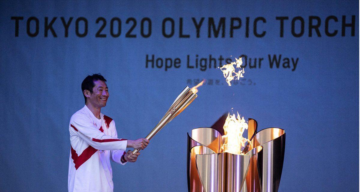 La llama olímpica recorré Japón en la previa de los Juegos. Foto: Telam.