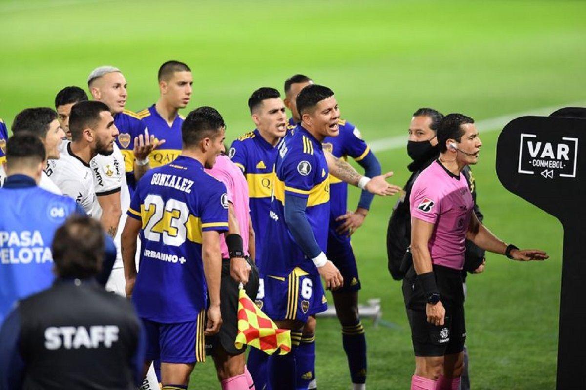 El VAR le anuló un gol a Boca.