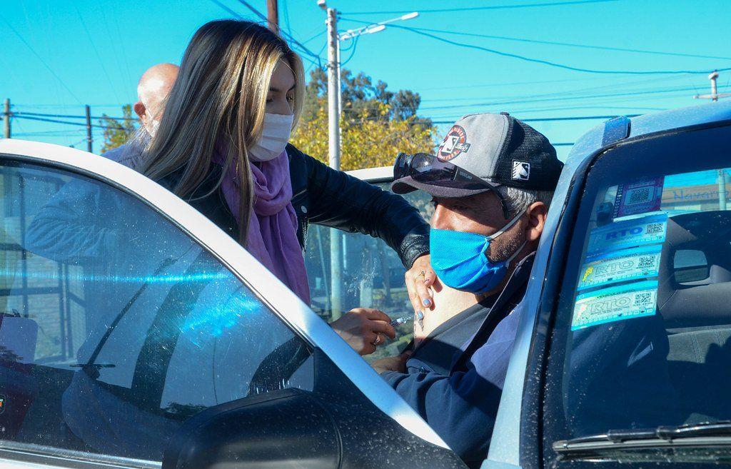 Por las fuertes ráfagas del Sur suspendieron la vacunación en el AutoVac