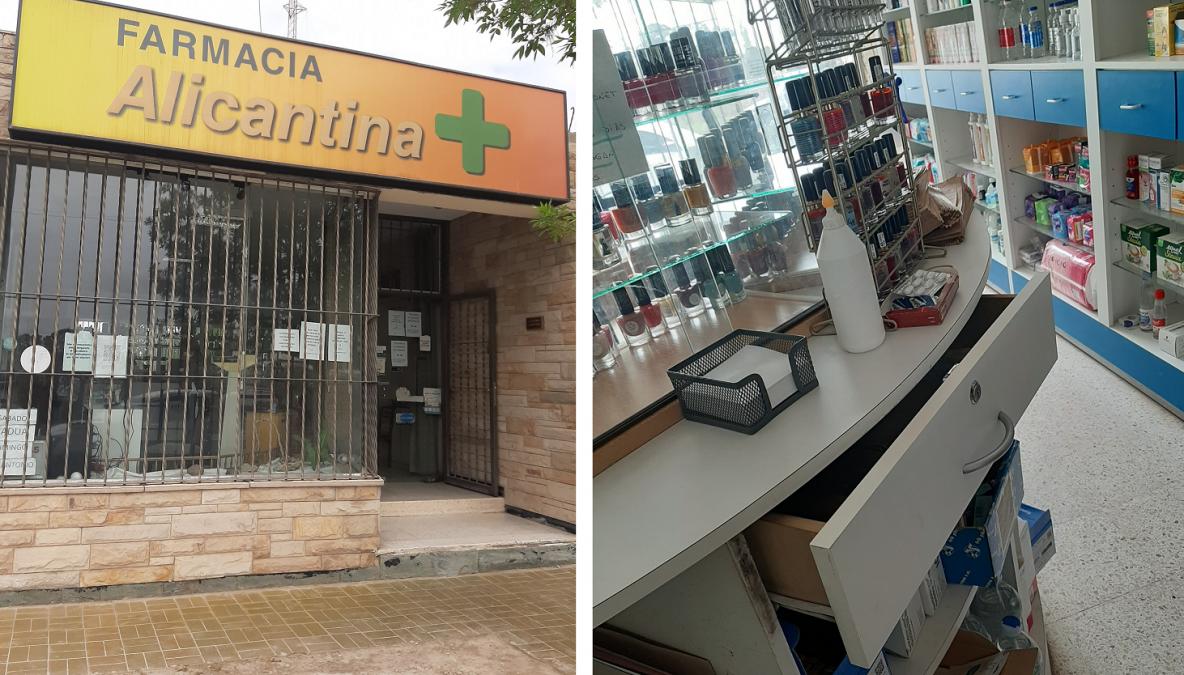 Ingresaron de noche a una farmacia y se llevaron más de 35 mil pesos