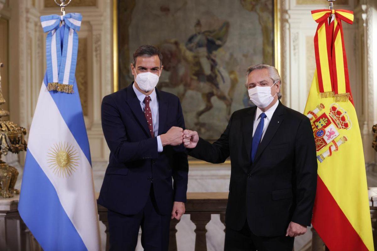 Alberto se reúne con Pedro Sánchez para fortalecer las relaciones entre Argentina y España