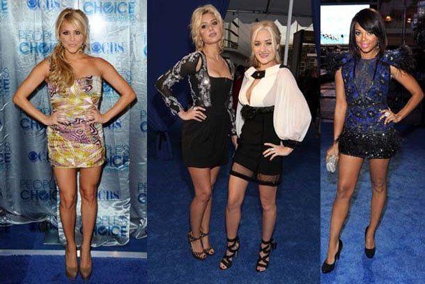 Las piernas más sexies en los Peoples Choice Awards