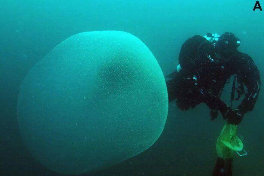 Burbuja hallada en el océano