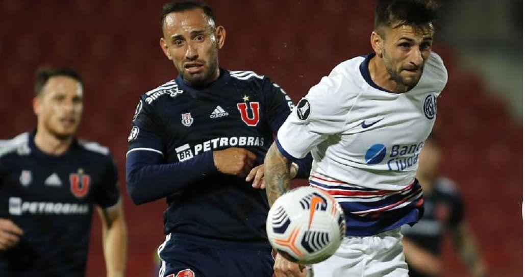 San Lorenzo igualó 1 a 1 con Universidad en el duelo de ida.
