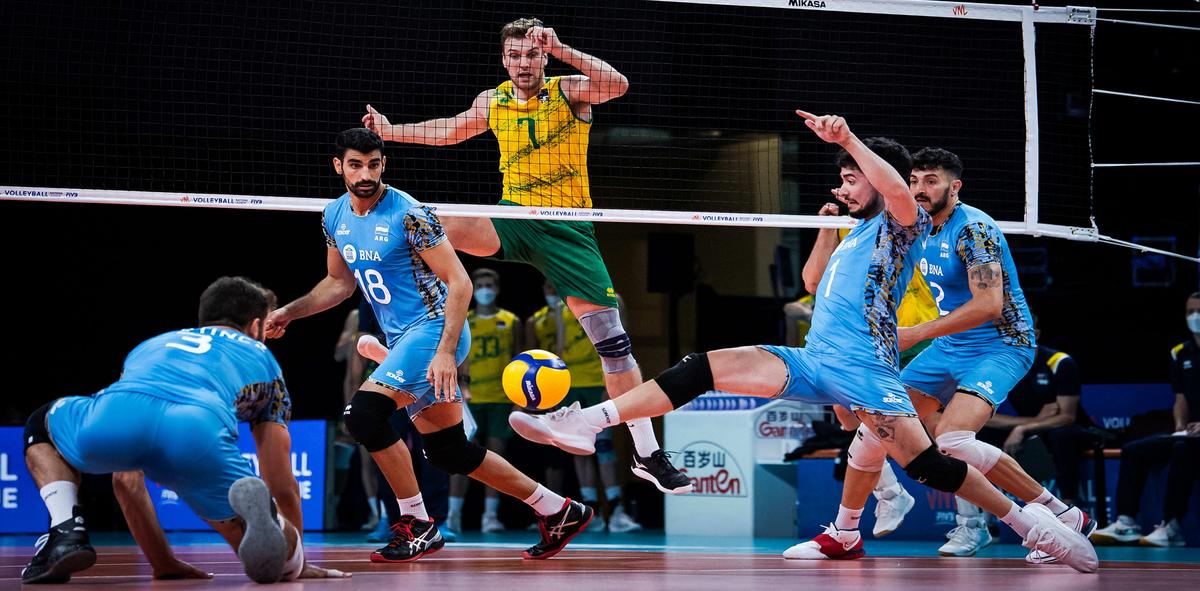 Argentina venció a Australia con buena tarea de Sánchez y Pereyra. Foto: volleyballworld.com