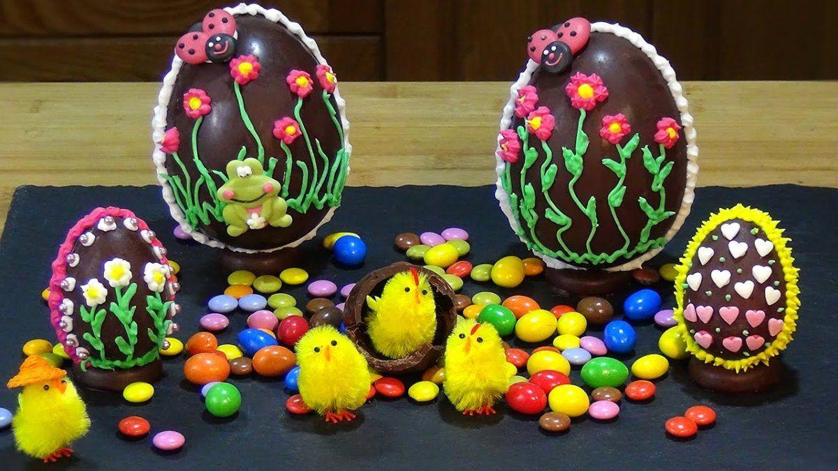 Huevos de pascua caseros.
