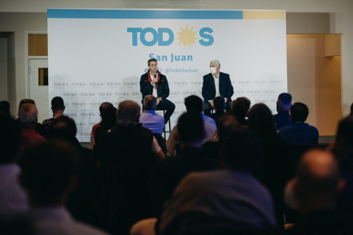 Sergio Uñac debatió los temas de interés de los empresarios y les pidió apoyo en las PASO