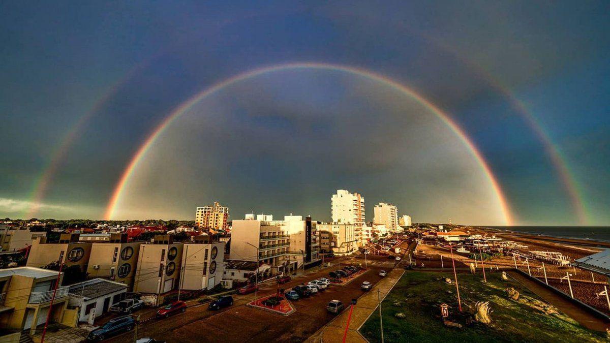 La foto hermosa foto del arcoíris que se hizo viral