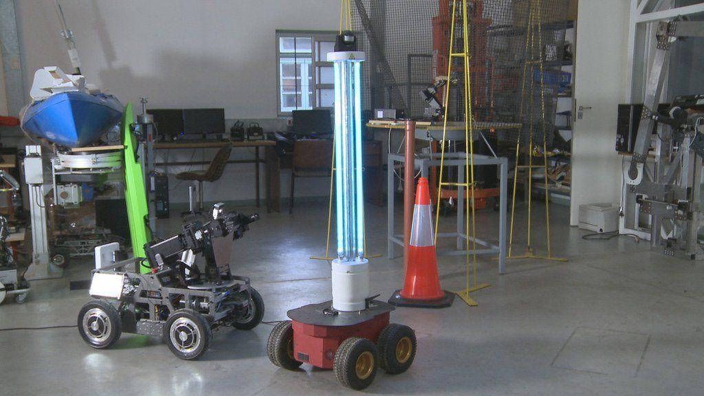 Robot sanitario: el novedoso equipo desarrollado en San Juan para desinfección en hospitales