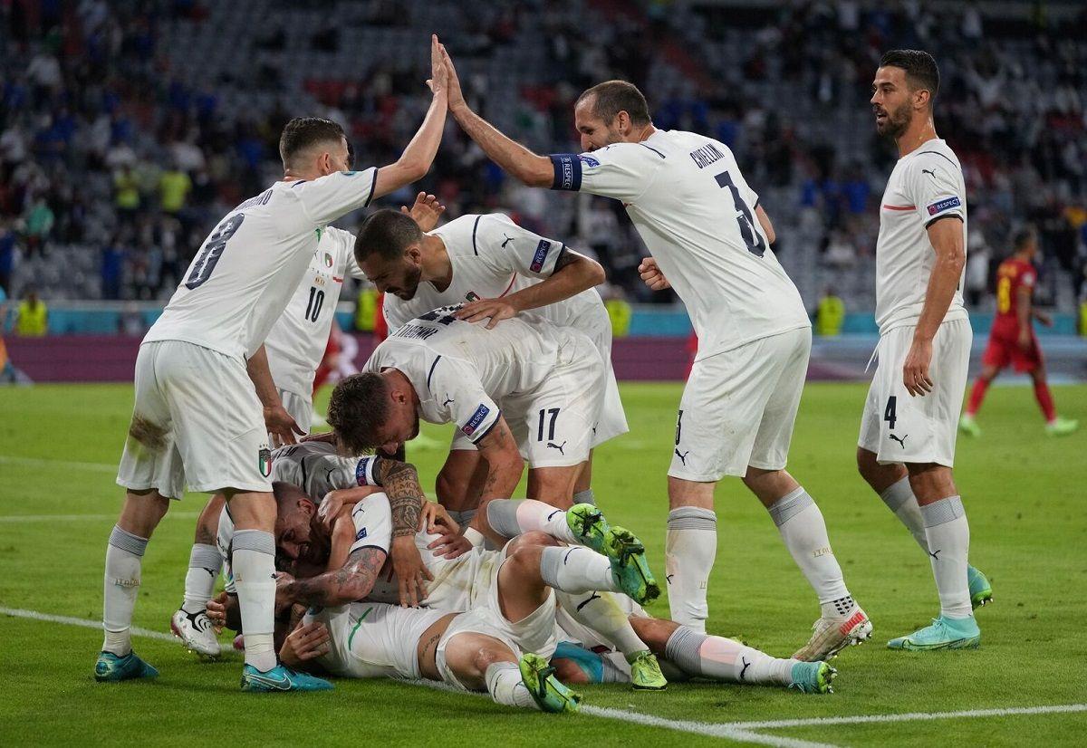 Italia derrotó a Bélgica y clasificó a semifinales de la Eurocopa.