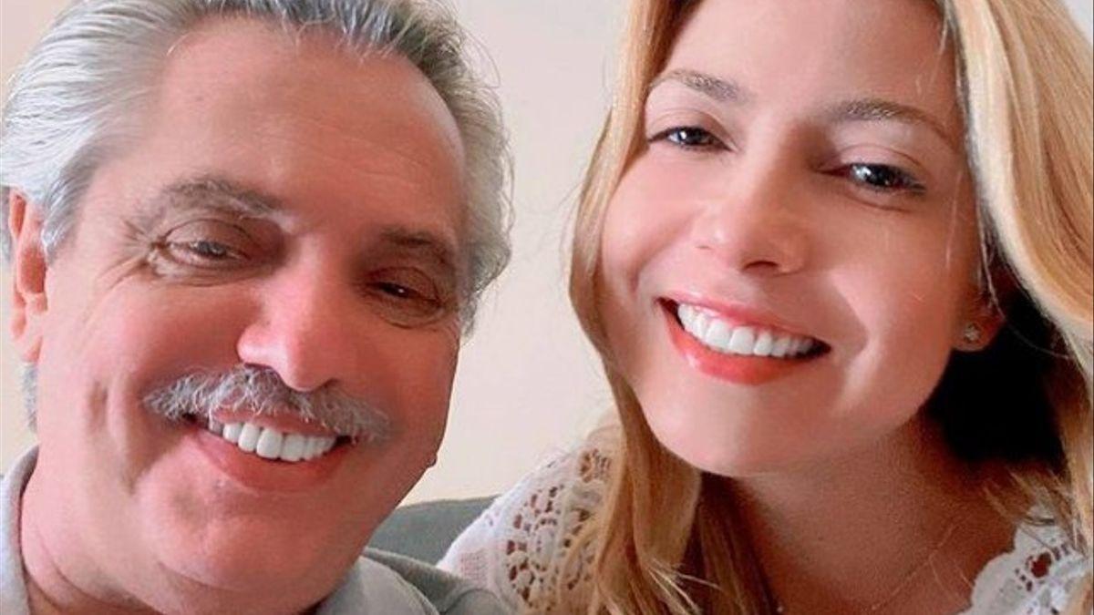 Alberto Fernández junto a Fabiola Yáñez.