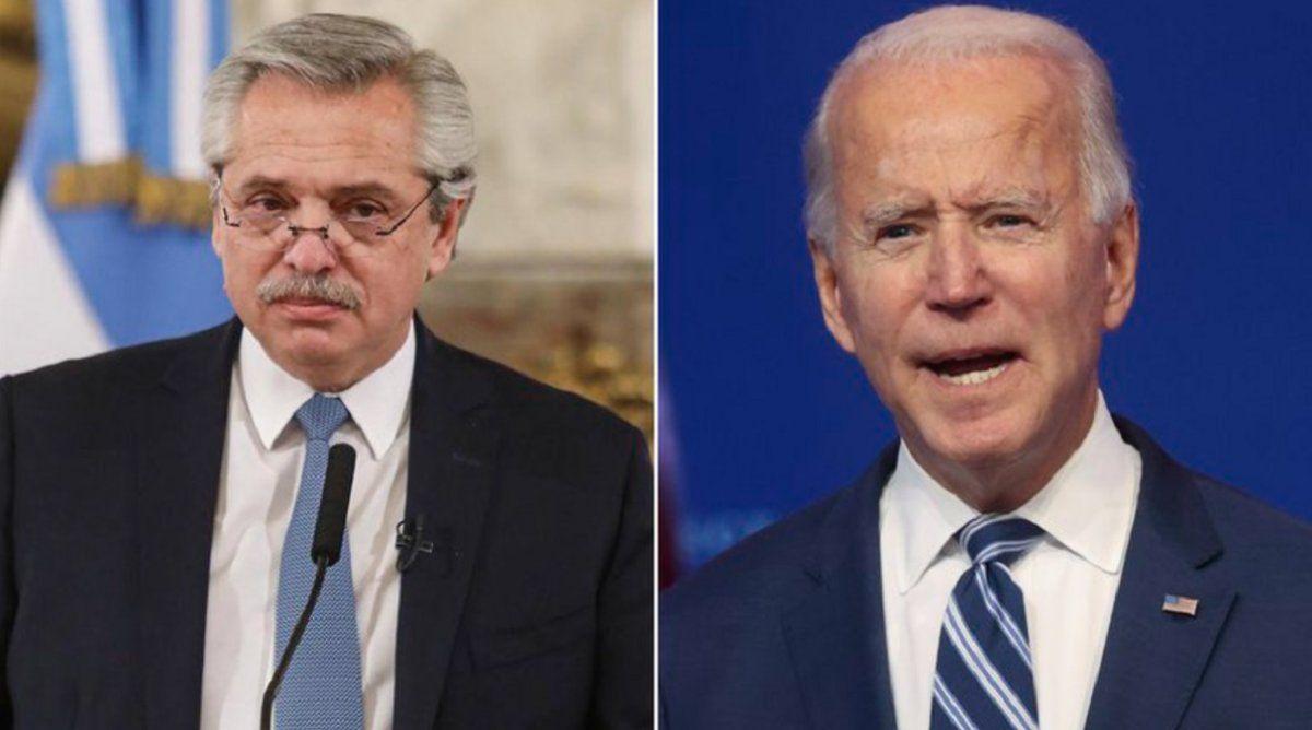 Fernández a Biden: El vínculo entre nuestros países se fortalecerá