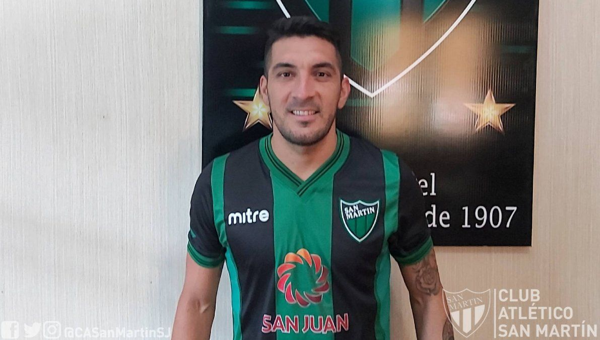 Martín Rivero se puso por primera vez la camiseta de San Martín.