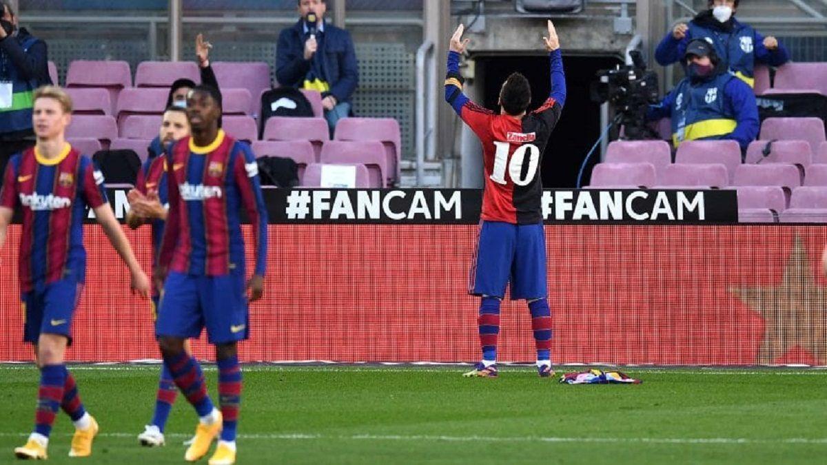 El emotivo homenaje que le rindió Messi a Maradona con la 10
