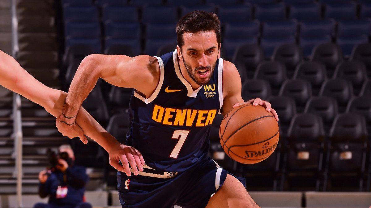 Campazzo buscará sumar minutos en el debut de Denver Nuggets