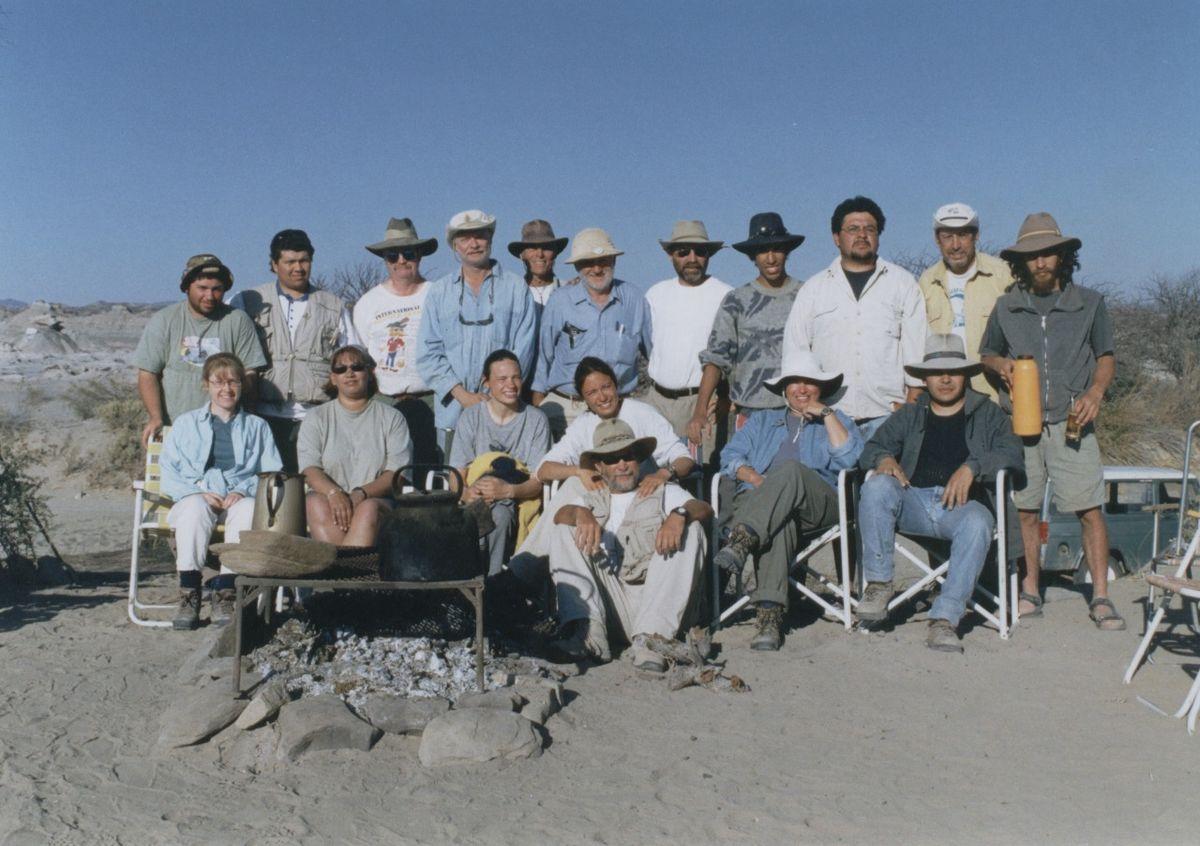 El equipo que participó del descubrimiento de Taytalura alcoberi.
