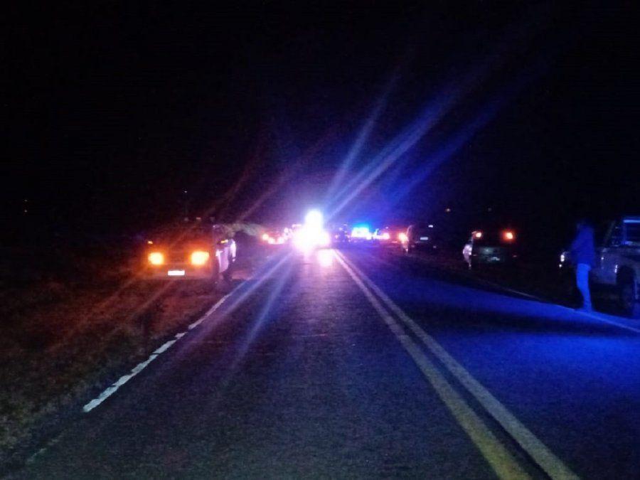 El siniestro vial sucedió a 5 kilómetros del Villicum sobre Ruta 40.
