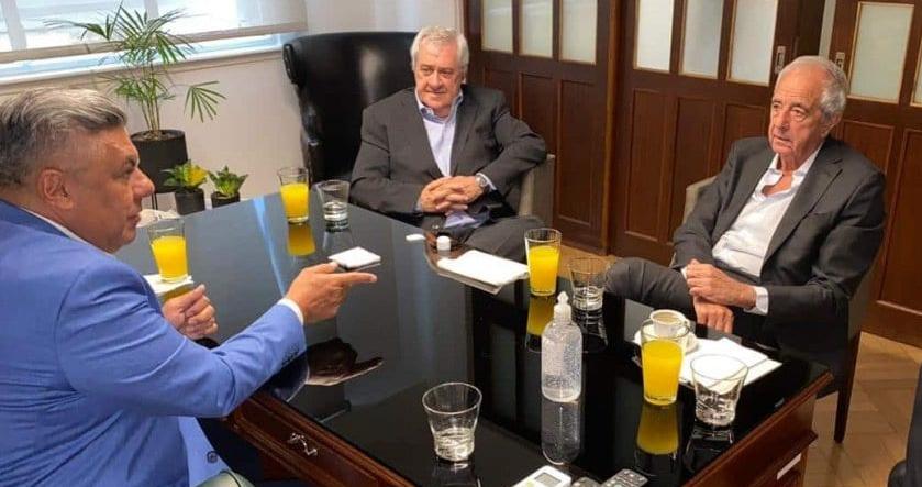 Tapia se reunió con Ameal y DOnofrio para hablar de los derechos televisivos