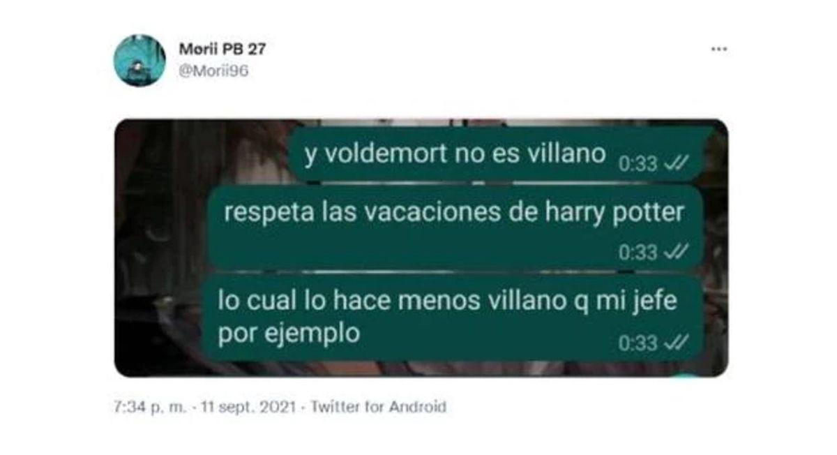 Comparó a su jefe con Voldemort.