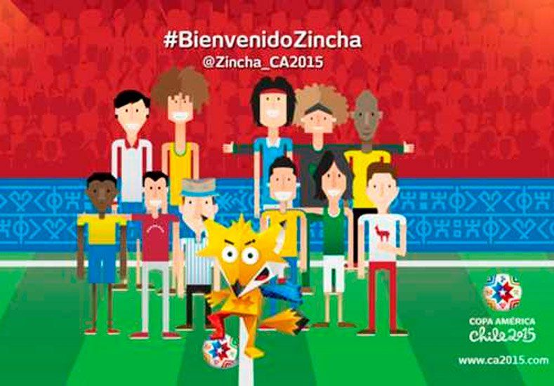 Zincha, la mascota oficial de la Copa América 2015