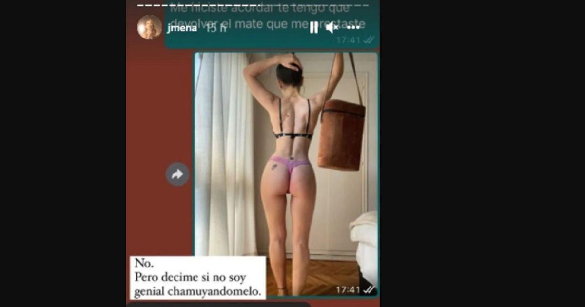 Jimena Barón publicó una foto íntima que le mandó a Matías Palleiro