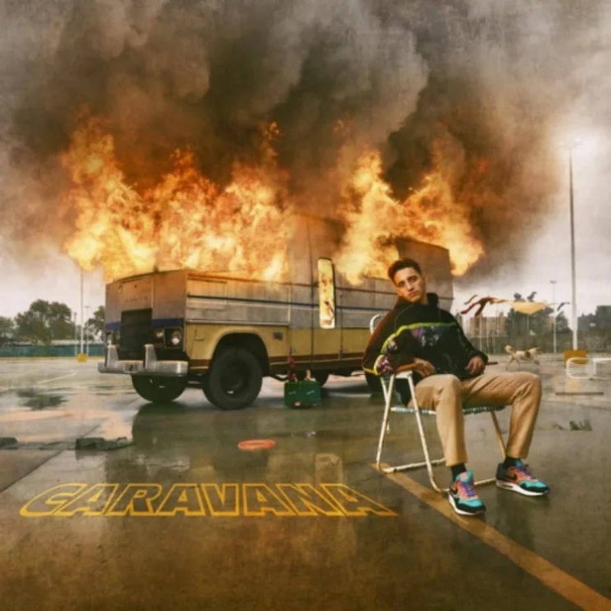 Un motorhome en llamas, la foto que vincula a Wos con la China Suárez