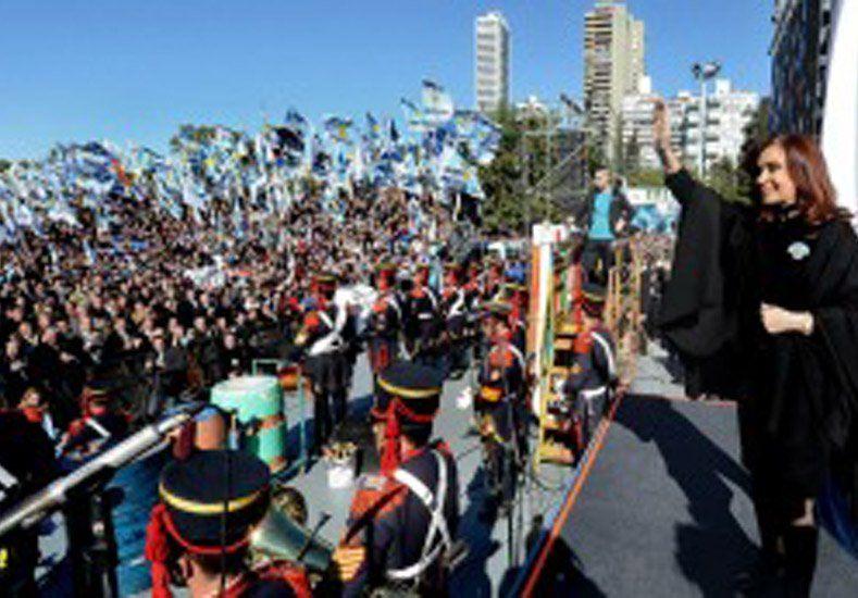 Cristina encabezó en Rosario el acto central del Día de la Bandera