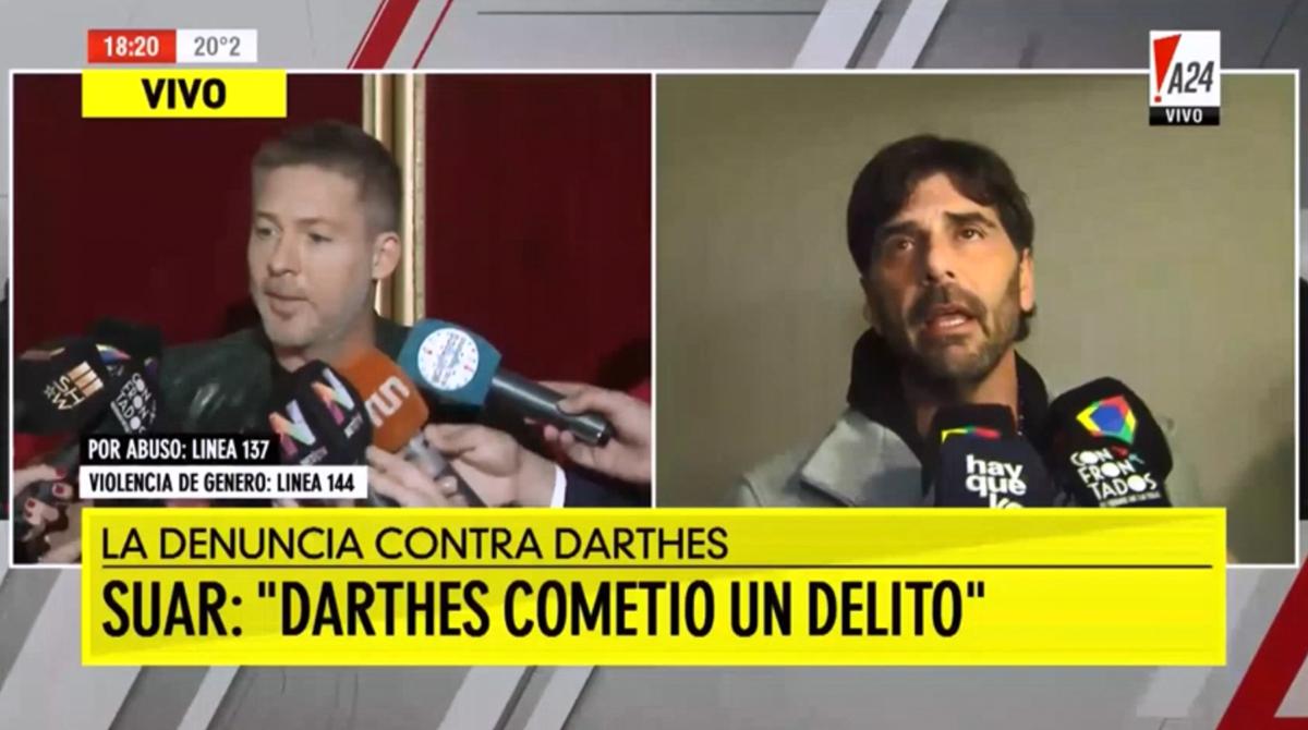 Adrián Suar habló luego de las acusaciones contra Darthés