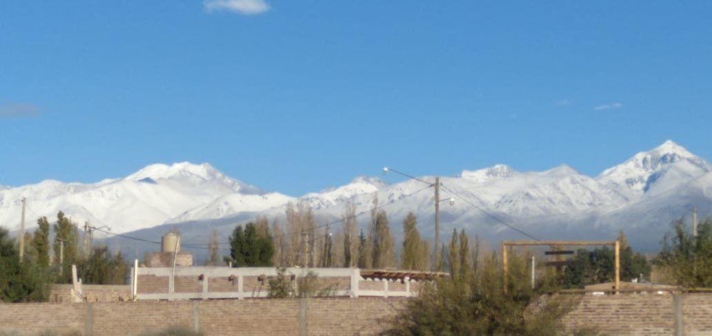 Nevó en la Cordillera y Barreal tuvo la mejor postal