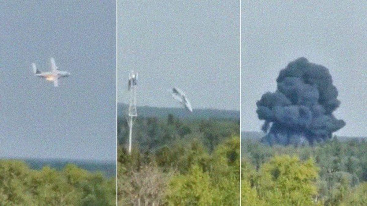 Se estrelló un avión militar en Moscú: no hay sobrevivientes