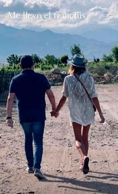Christophe confirmó su noviazgo con Dolores Barreiro