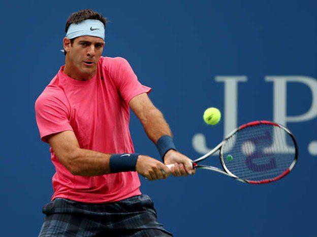Del Potro logró pasar el debut después de un largo día en el US Open