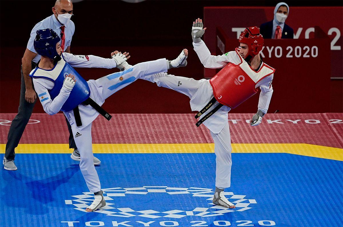 Lucas Guzmán no alcanzó la medalla de bronce en Taekwondo.