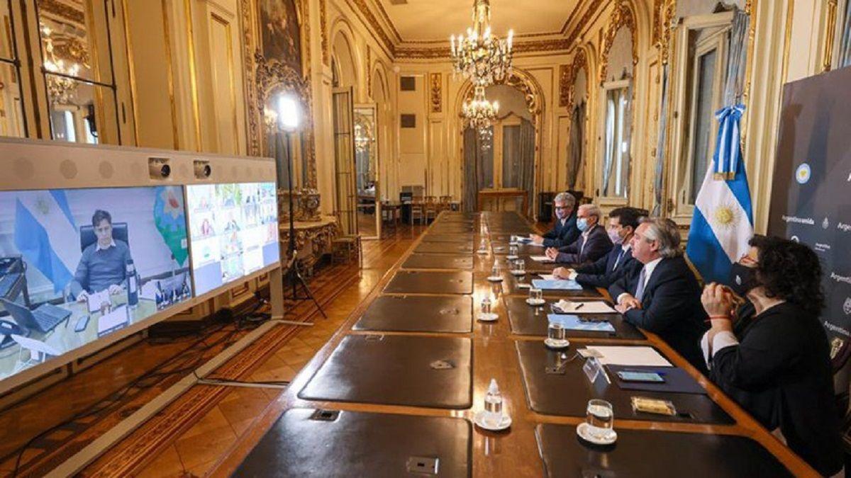 Alberto Fernández habló con doce gobernadores.