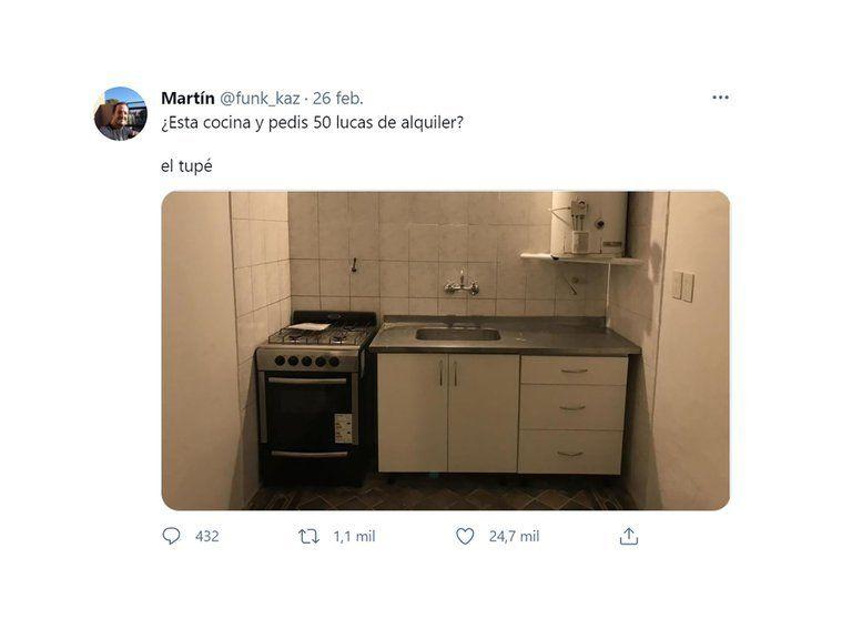 Esta cocina y pedís 50 lucas de alquiler, el descargo de un inquilino que se hizo viral