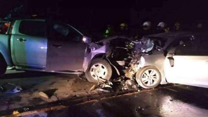 Murieron dos sanjuaninos en un tremendo choque frontal en Ruta 11