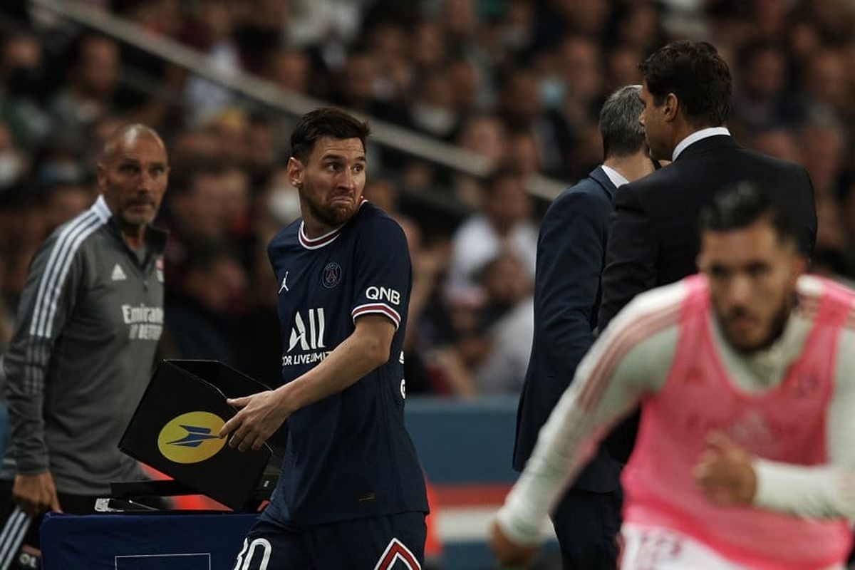 Pochettino explicó el cambio de Messi y reveló qué le dijo cuando salió