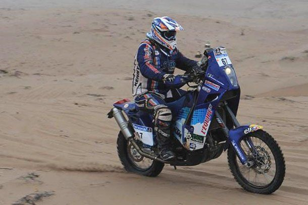 Helder Rodrigues marcha primero en motos en la especial Copiapó-Copiapó