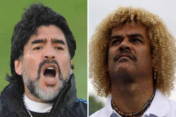 Maradona y Valderrama reviven un viejo duelo, esta vez en el fútbol de salón