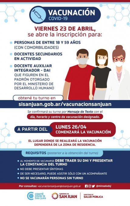 Personas de 18 a 59 años de riesgo, el nuevo grupo que recibirá la vacuna