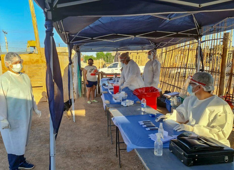 Realizaron 57 test rápidos a vecinos del barrio Fe y Esperanza de Chimbas